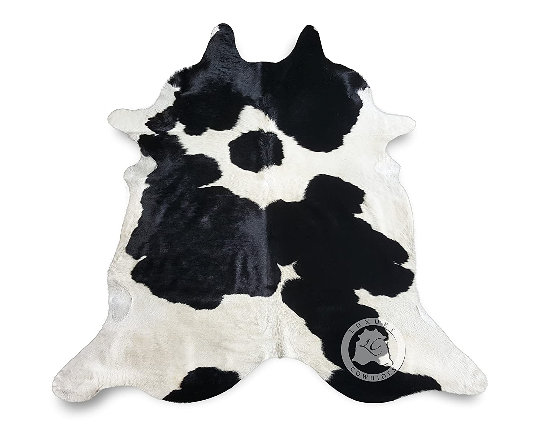 Sunshine Cowhides Teppich aus Kuhfell, Farbe  Schwarz & Weiß, Größe Circa 150 x 180 cm BN1, Premium - Qualität von Pieles del Sol