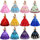 ZITA ELEMENT Lot 6 Pcs 11.5 Inch Girl Doll Party Dress Gown Clothes for 11.5 Inch Girl Doll Clothes Outfits - Fashion…
