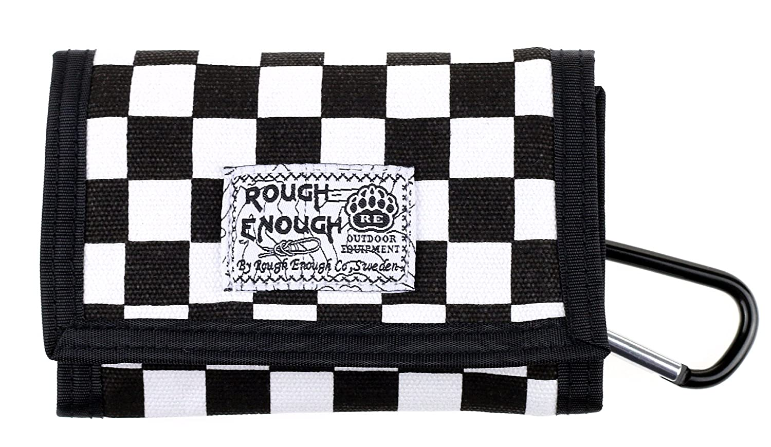 Rough Enough Premium Canvas Polyester Plaid Tartan Sports Outdoors Travel Classic Basics Small Portable Trifold Coin Wallet Purse Holder Organizer Case with Zippers for Kids Boy Men Women ROUGH ENOUGH INC. RE8403