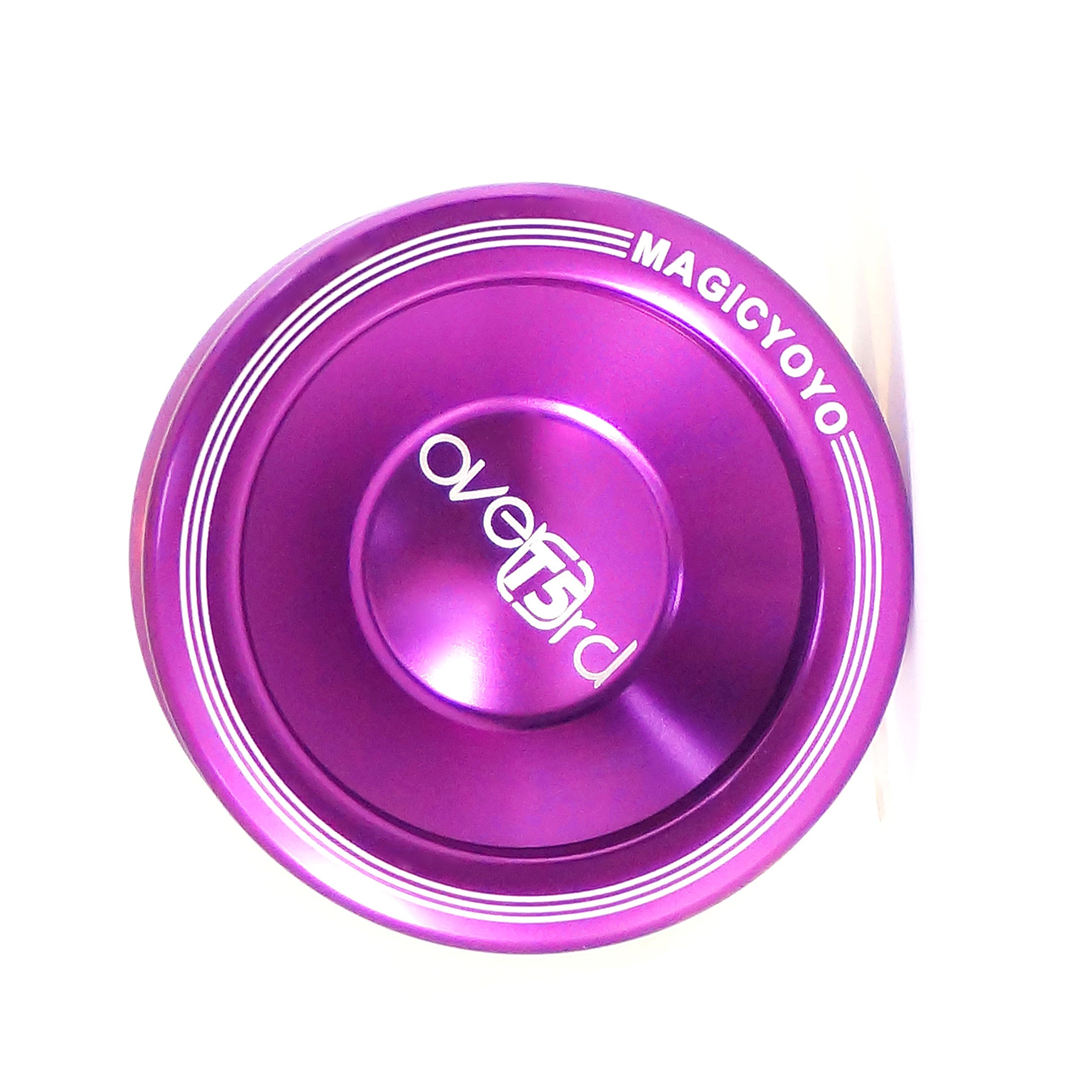 MAGICYOYO T5 Overlord Purple Aluminum Smoothless Professional Yoyo