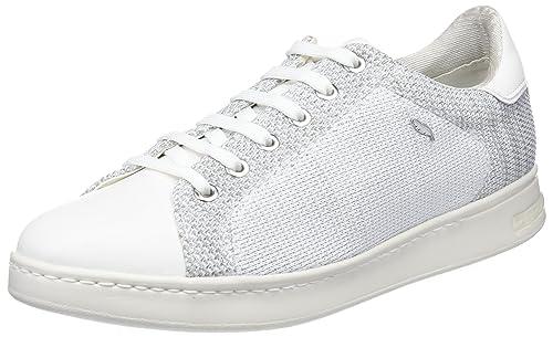 Geox D Jaysen a, Zapatillas para Mujer, Rosa (Salmon/White), 37 EU