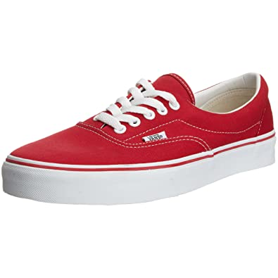 26896a43f9 Vans Era Red White Lace Up Mens Low Top Trainers VN-0 KV06RT D10 (6.5 UK)   Amazon.co.uk  Shoes   Bags