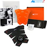 Abtronic X8 8-Pack Abdominal Abs Core Muscles Gain Tone Strengthen Growth Development Endurance Fitness High End EMS Electro Muscle Stimulation German Technology