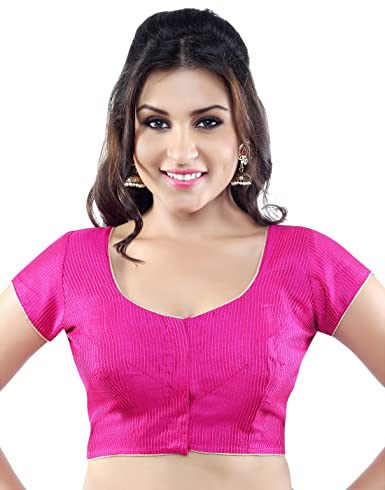 Studio Shringaar Poly Raw Silk Cap Sleeve Blouse Blouses at amazon