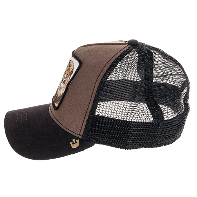 Amazon.com: Goorin Bros Mens King Lion Patch Trucker Cap Hat (Brown): Clothing