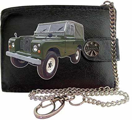 LandRover Series 2A image on KLASSEK Brand Men Leather Chain Wallet with Chain clasp Car Moto