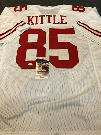 separation shoes 77b31 c32e8 S.F. 49ERS GEORGE KITTLE AUTOGRAPHED SIGNED JERSEY JSA COA ...