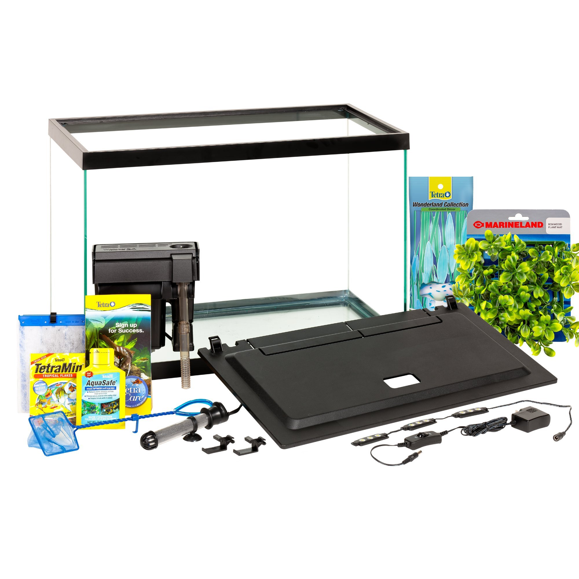 Tetra Aquarium 20 Gallon Fish Tank Kit, Includes LED Lighting and Decor by Tetra