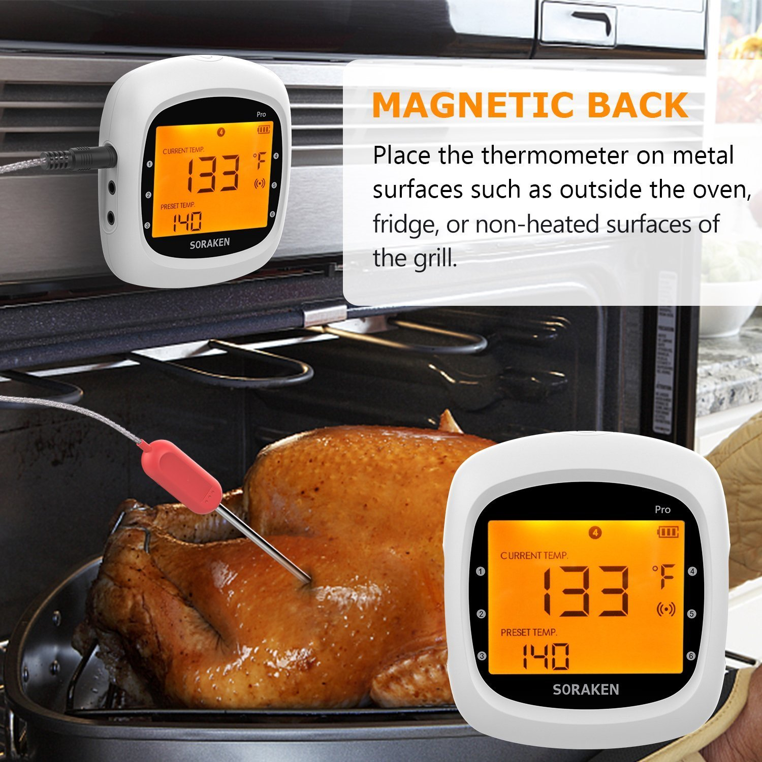 Amazon.com: Wireless Meat Thermometer for Grilling ...