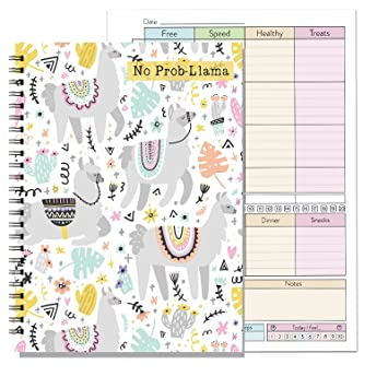 3 month a5 diet food diary activity ringed tracker log journal