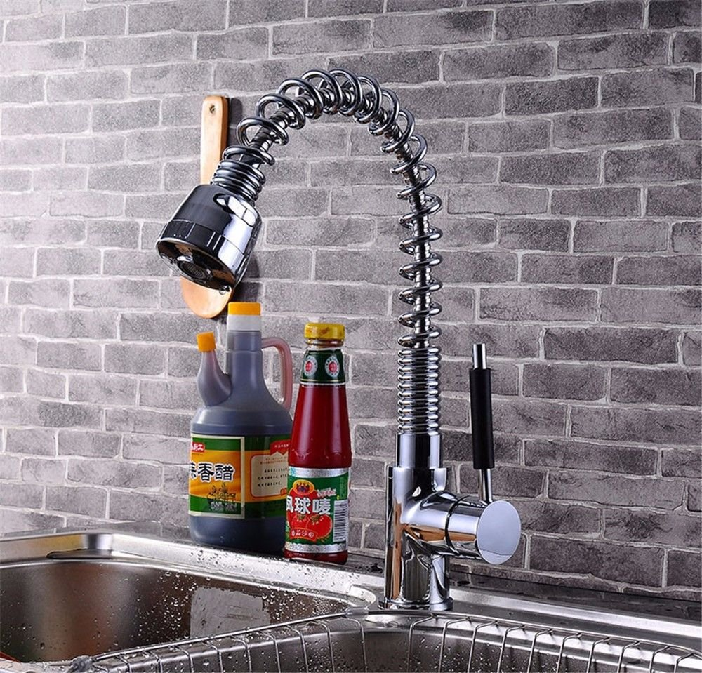 Gyps Faucet Basin Mixer Tap Waterfall Faucet Antique Bathroom The Kitchen spring pull-down faucet hot and cold water tank, redating Chrome color Bathroom Tub Lever Faucet