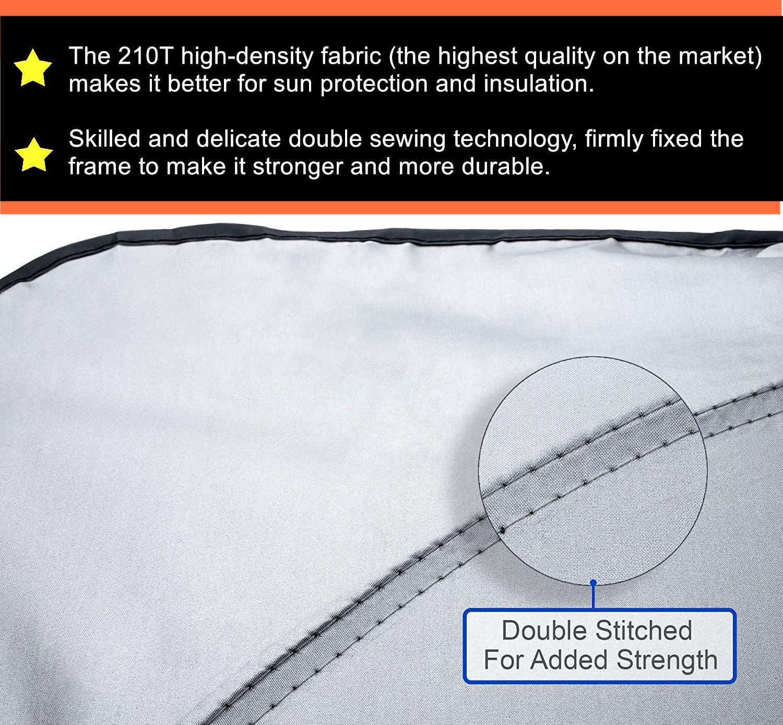 Shenzhenshi Wanyetengyouxiangongsi ZACAR Windshield Sun Shade 210T Car Sun Shade Keep Your Vehicle Cool,Foldable Sunshade for Car Windshield Will Provide Maximum UV and Sun Protection M - 59 x 31.49 inches