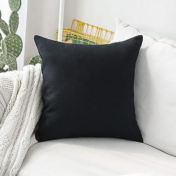 Groovy Home Brilliant Thanksgiving Throw Pillow Covers Linen Burlap Large Throw Pillows Euro Sham Cushion Cover For Bench 26 X 26 Inch 66Cm Black Inzonedesignstudio Interior Chair Design Inzonedesignstudiocom