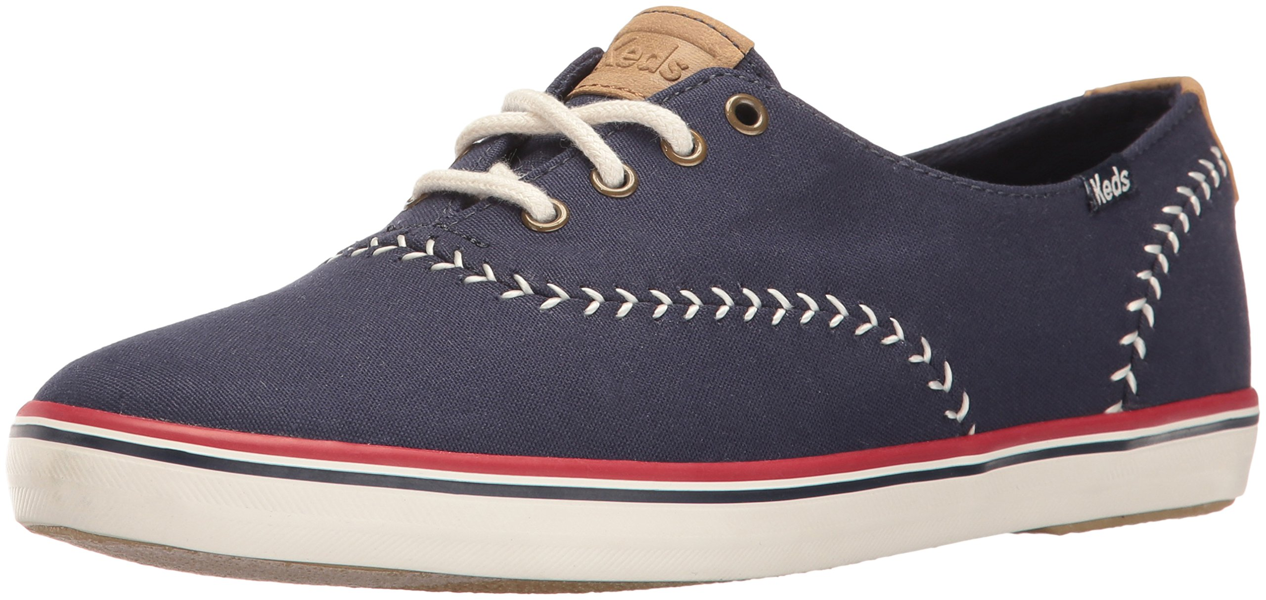Keds Women's Champion Pennant Fashion Sneaker, Peacoat Navy, 6 M US