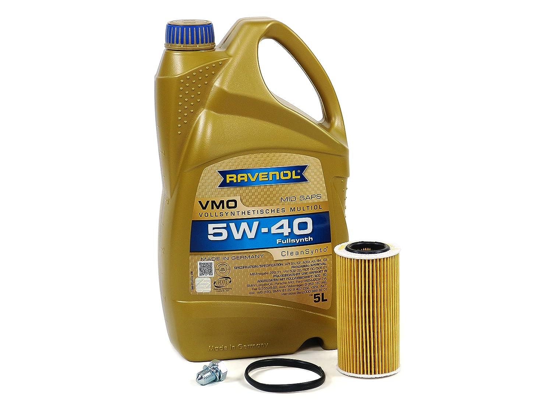 Blau j1 a5086-a Audi a3変更キット – 2006 – 08 Wモーターオイル/ 4円柱2.0tエンジン – 5 W40 B01EO23IN0