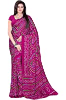 Aaradhya Fashion Women Crepe Saree with Blouse Piece (AFMOSS-0101_Pink)