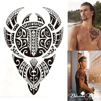 775cfbc51 Temporary Tattoo, Realistic, Transfer, Sticker, Polynesian Bull, Tribal,  Maori,