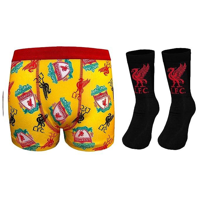 Liverpool FC - Set de calcetines y calzoncillos de tipo bóxer para niños - Producto oficial - Amarillo - 5-6 años: Amazon.es: Ropa y accesorios