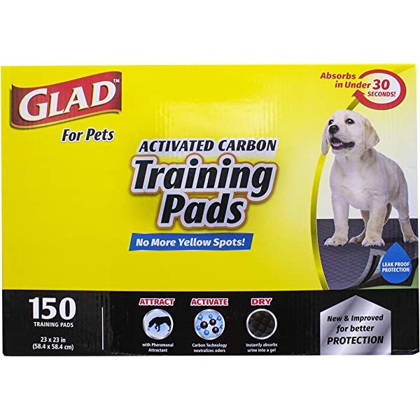 Glad for Pets Activated Carbon Training Pads For Dogs and PuppiesPuppy Pads f