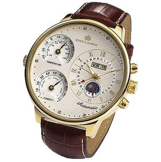 Reloj Mecánico Grande (55mm) con Cuerda Automática KQ4001 de Kings & Queens