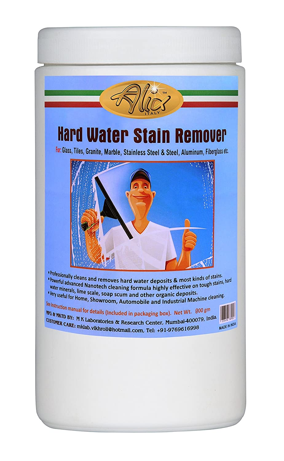 Buy Alix Hard Water Stain Remover (800 gm) Scouring Powder Actively ...