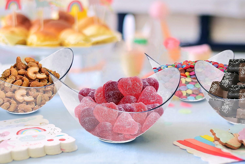 Amazon.com | Mini Clear Plastic Party Bowls. Pack Includes 96 ...