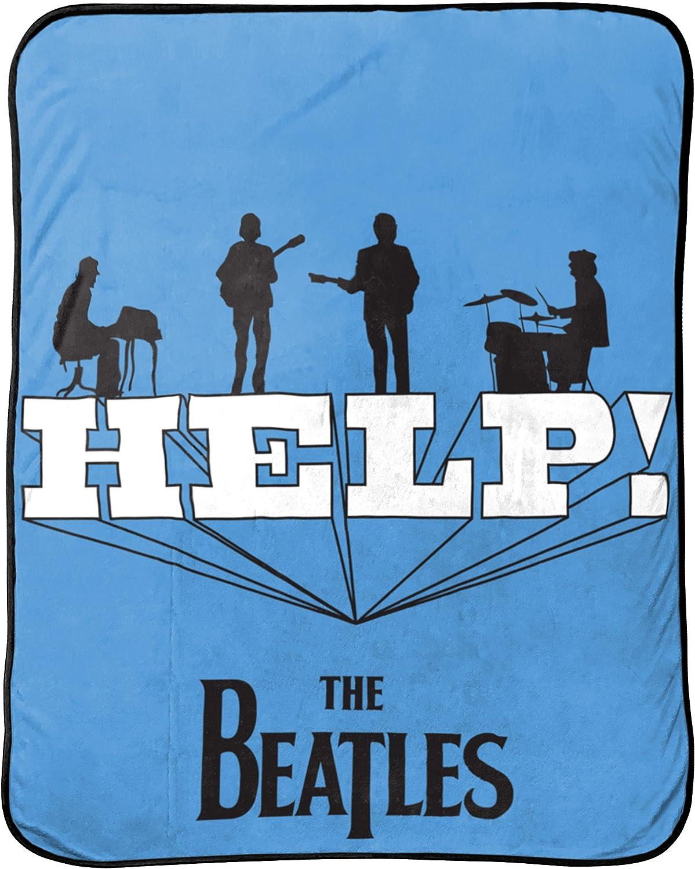Beatles 'Help' Themed Throw Blanket