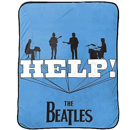Amazon Bravado Beatles 'Help' Themed Super Soft Plush 40 X 40 Beauteous Beatles Throw Blanket