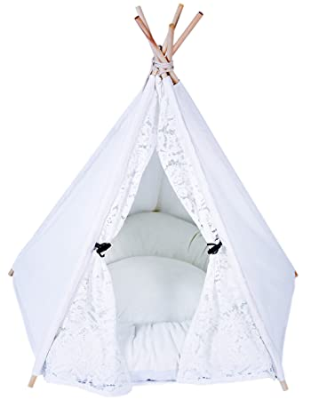 Sweety-ins Lace Style Teepee Dog u0026 Cat Bed - Portable Dog Tents u0026 Pet  sc 1 st  Amazon.com & Amazon.com : Sweety-ins Lace Style Teepee Dog u0026 Cat Bed - Portable ...