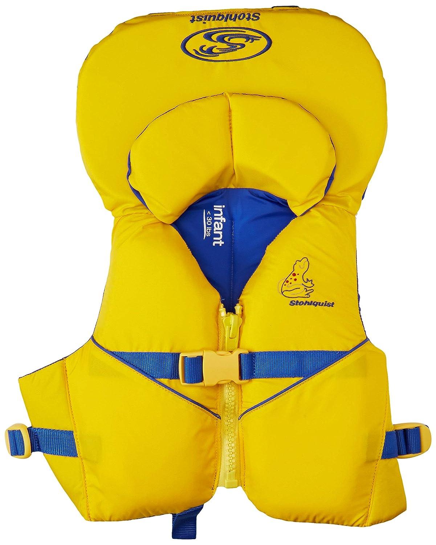 Stohlquist 幼児用ライフジャケット 沿岸警備隊承認 乳幼児用ライフベスト (リニューアル) 8 - 30 lbs イエロー/ブルー B07RM8QBV1