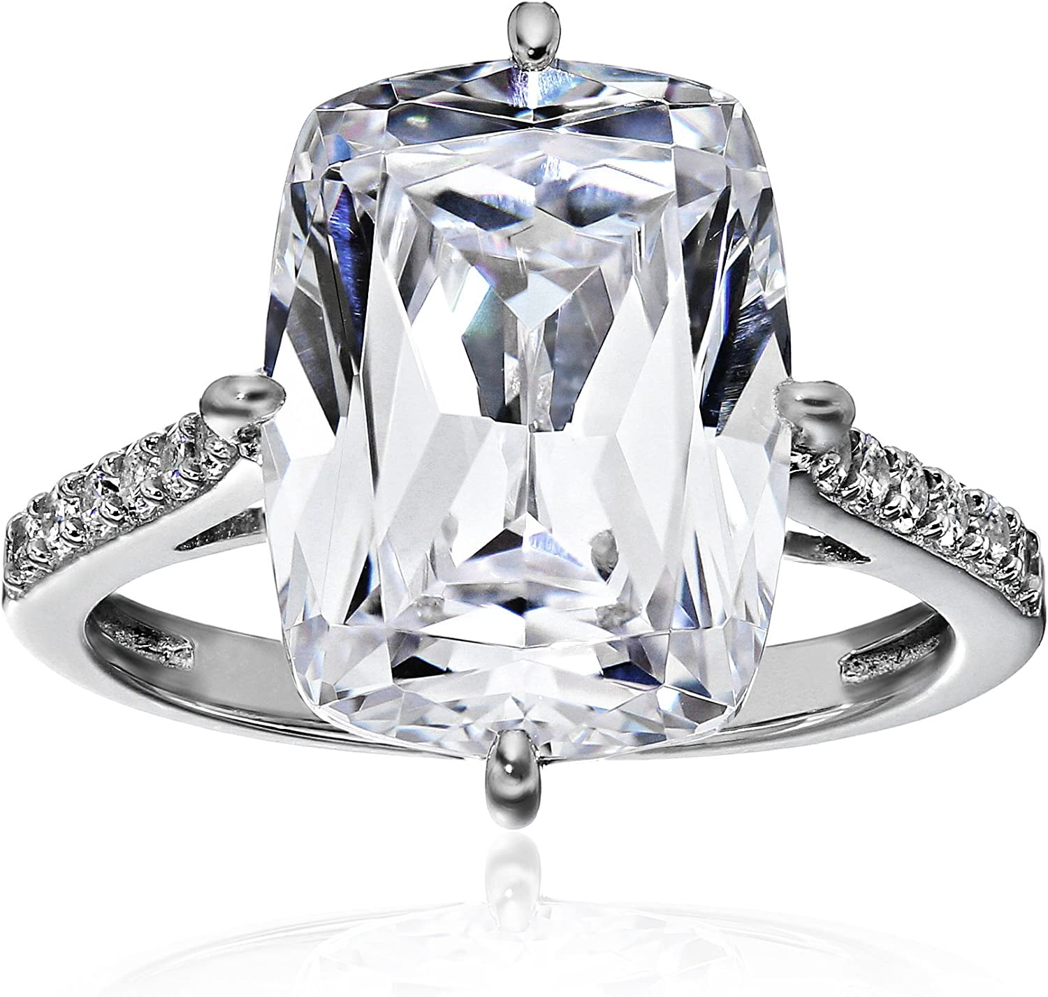 18*12mm White Pear Cut Cubic Zirconia Diamond Engagement Wedding Ring in 925 Sterling Silver For Women Beautiful Celebrity Inspiration Ring