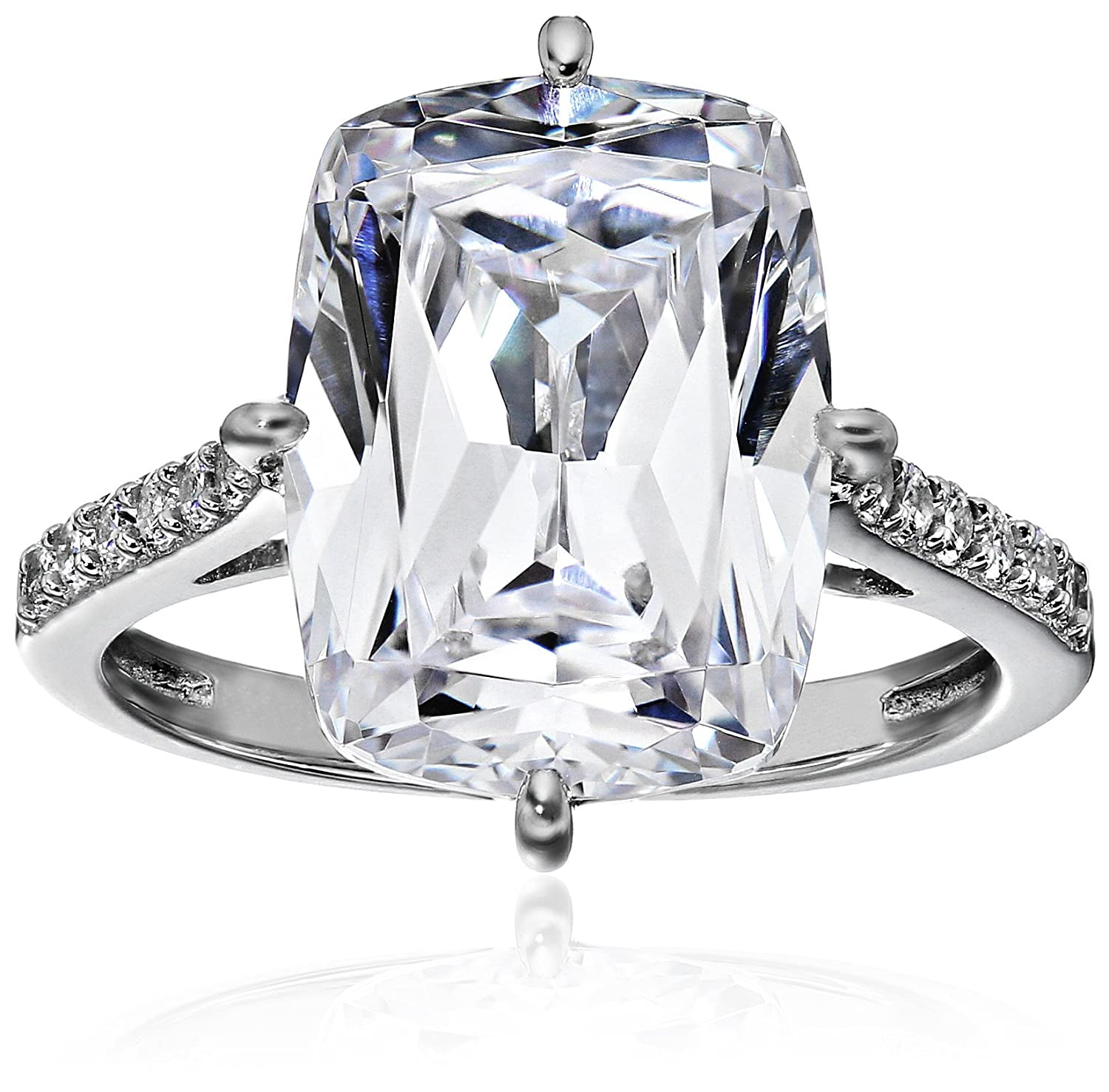 896bf50ac Amazon.com: Platinum-Plated Sterling Silver Celebrity