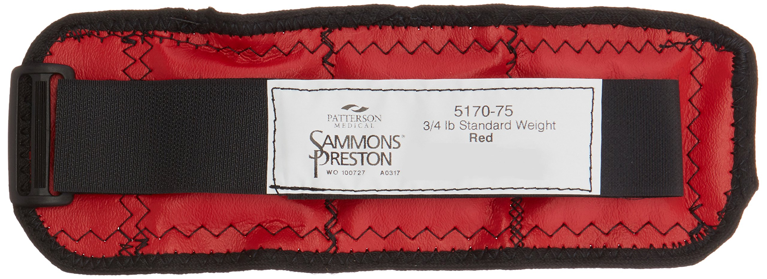 Sammons Preston Cuff Weight, 0.75 lb, Red, Velcro Strap with D-Ring Closure, Grommet for Easy Hanging, Steel Ankle & Wrist Weights are Lead Free, Exercise Tool for Strength Building & Injury Rehab by Sammons Preston (Image #2)