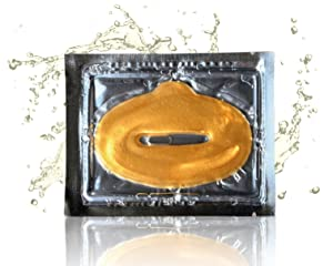 24 Karat Gold Face Facial Lip Mask, Intense Lip Hydration, Collagen, and Peptides Energize Lips While Reducing Fine Lines and Wrinkles