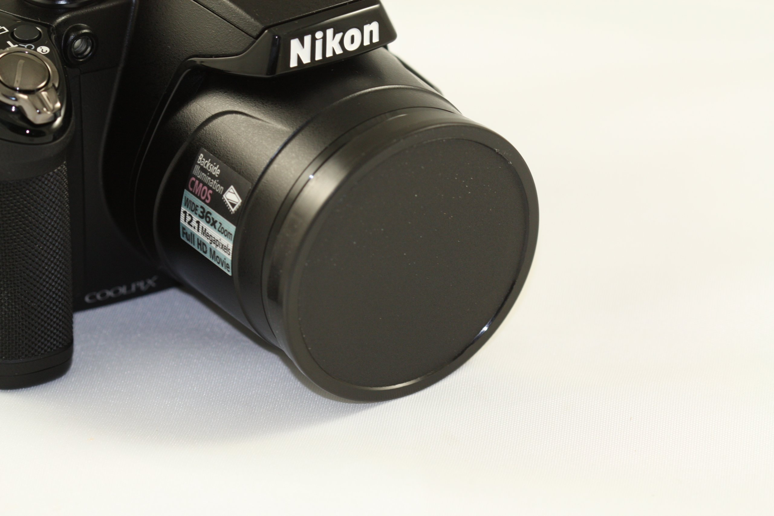 Push up Front Lens Cap Cover for Nikon Coolpix P500 , L110 , P80 Digital Camera + Cap Holder by A&R