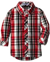 Kitestrings Baby Boys' Cotton Plaid Button Front Shirt