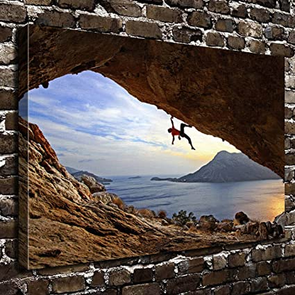 Amazon.com: COLORSFORU Wall Art Painting Rock Climbing Prints On ...