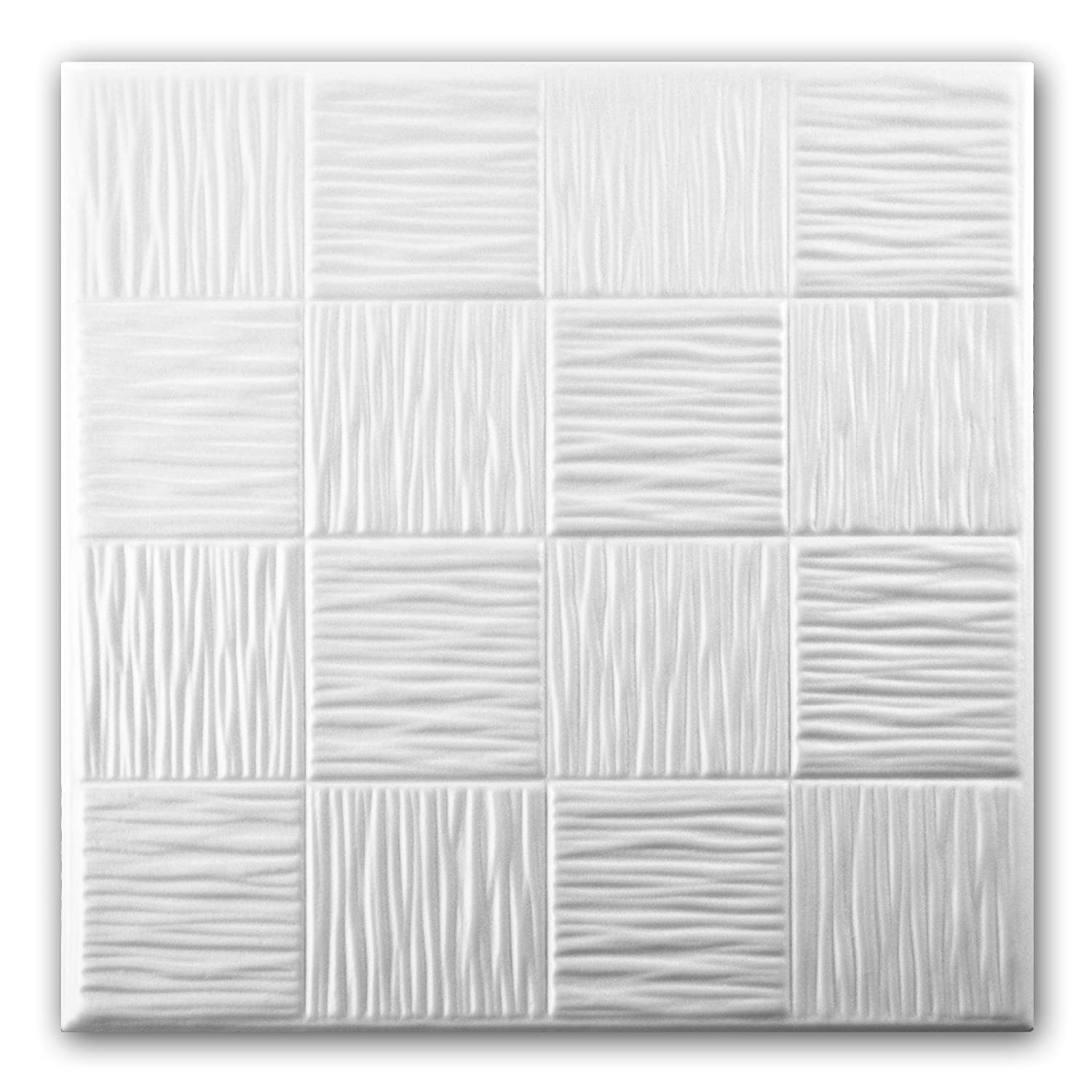 Polystyrene foam ceiling tiles panels 0810 pack 112 pcs 28 sqm polystyrene foam ceiling tiles panels 0810 pack 112 pcs 28 sqm white amazon diy tools dailygadgetfo Images