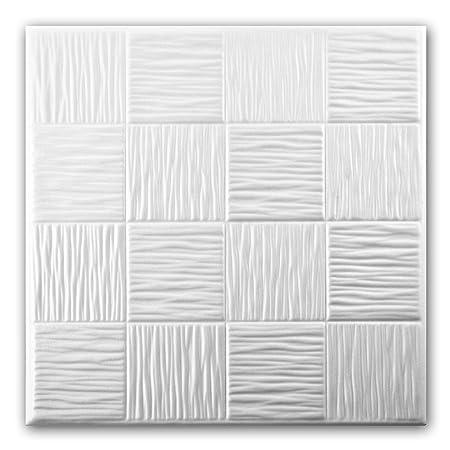 Delightful Polystyrene Foam Ceiling Tiles Panels 0810 (Pack 112 Pcs) 28 Sqm White