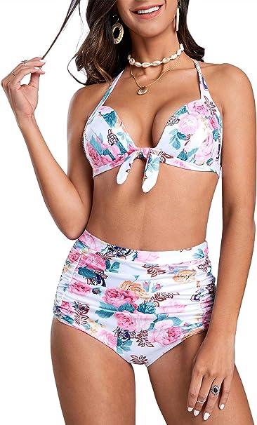Amazon.com: Yacooh traje de baño de dos piezas de bikini de ...
