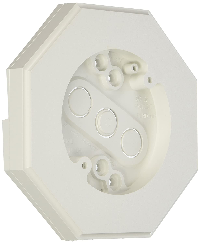 Arlington Industries 8131-1 8131 Wall Plate, 1/4-inch or 5/16-inch Siding & Shingles, White