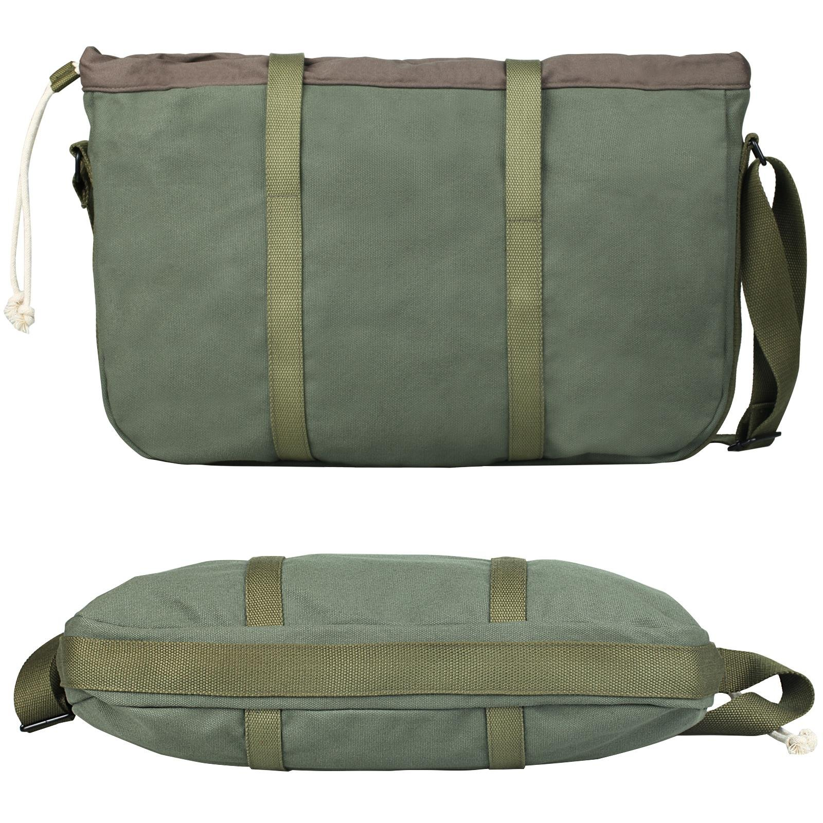 Superzero Water Resistant Canvas Messenger Shoulder Bag For MenWomen,Vintage Business Laptop Computer Bag Fit Laptops 13'', 14'' and up to 15.6 Inches by Superzero (Image #3)