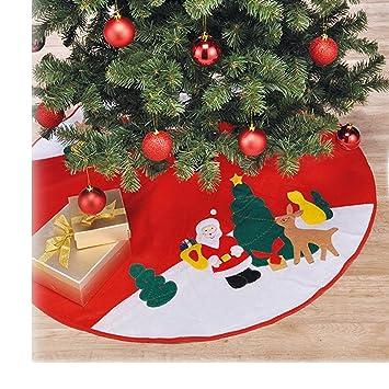 Durchmesser Weihnachtsbaum.Jemidi Weihnachtsbaum Christbaum Decke Weihnachtsbaumdecke Unterdecke Unterlage Christbaumdecke 90cm Durchmesser