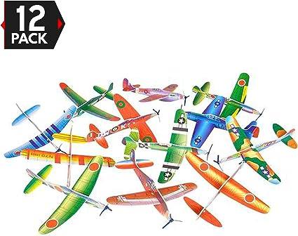 Amazon.com: 12 unidades 8 inch planeador Planes – Fiesta de ...