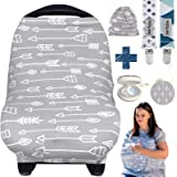 Dodo Babaies Nursing Cover for Breastfeeding – Car seat Cover Nursing Scarf Breastfeeding Ups – Ultra-Soft and Breathable – M