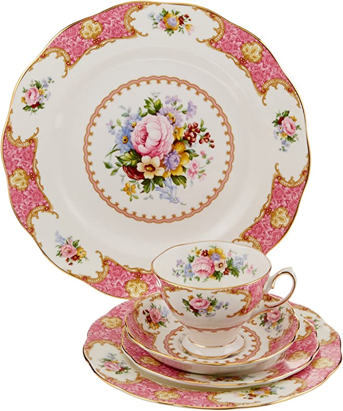 Royal Albert 15135002 Lady Carlyle 5-Piece Place Setting, Service for 1: Buy Online at Best Price in KSA - Souq is now Amazon.sa