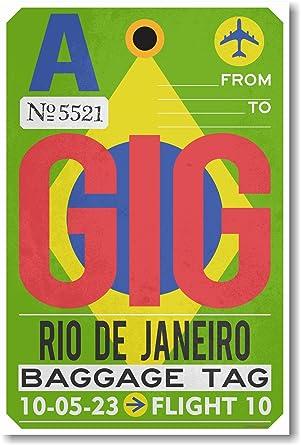 Amazon.com: gig – Río de Janeiro – Aeropuerto Tag – Nuevo ...