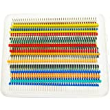 VAPKER 35 PCS 1 x 40 Pin 2,54mm Distanz Single Row Breakable Männchen Pin Header Steckverbinder Kit PCB Pin Strip für Arduino (7 Farben jede Farbe 5 Stück)