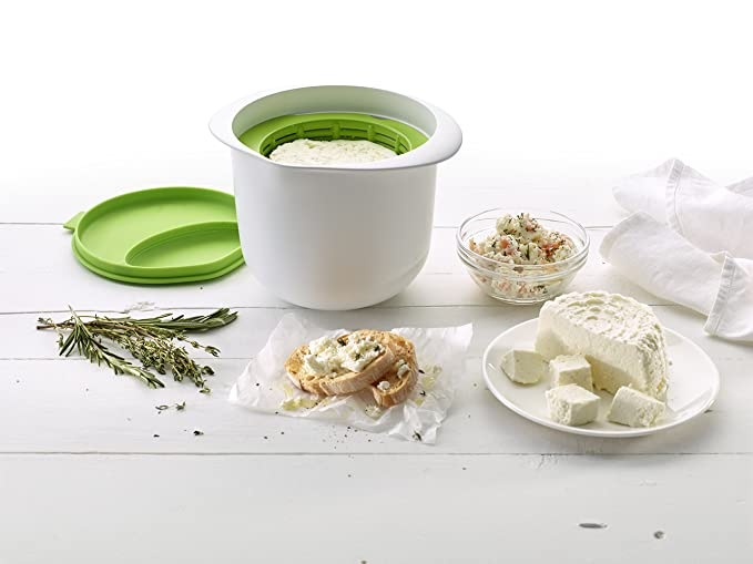 Lékué 0220100V06M602 Kit para hacer queso, 1 Liter, Plástico
