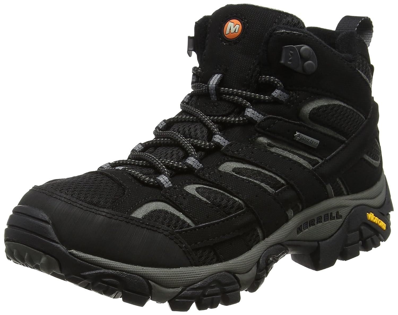 Merrell Women's Moab 2 Mid GTX Hiking Boot B072Q8BSNR 9.5 B(M) US|Black